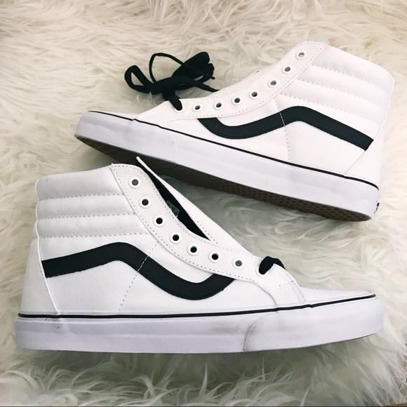 e7b88e3f8c7 VANS shoes high tops white and black strip